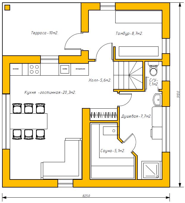 Русхаус — 1 этаж